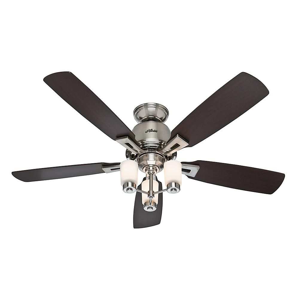 Hunter altitude 52 in indoor brushed nickel ceiling fan ceiling hunter altitude 52 in indoor brushed nickel ceiling fan 59005 the home depot mozeypictures Gallery