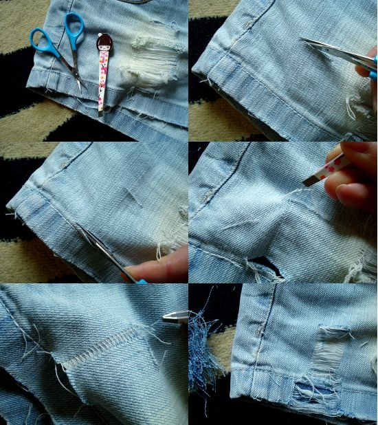 DIY - ripped denim shorts. | DIY | Pinterest | Ripped denim, Craft ...