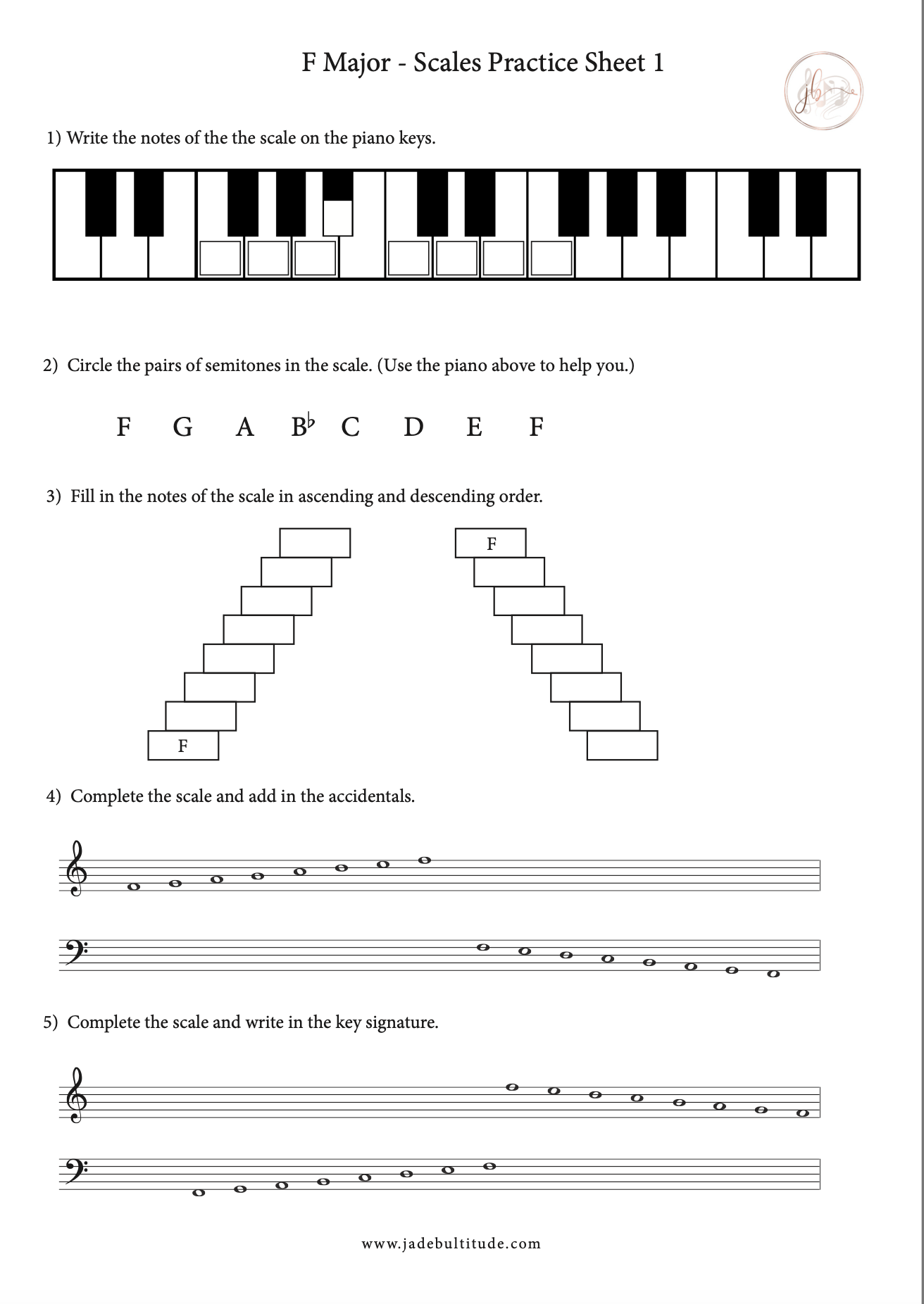 Pin On Major Scale Worksheets