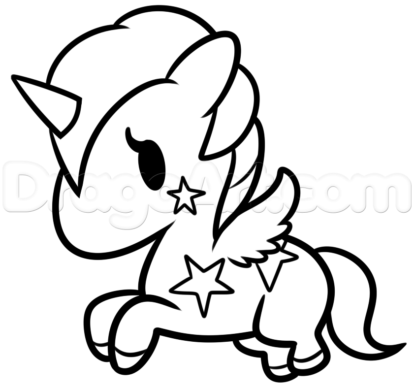 unicorn coloring pages easy - photo#6