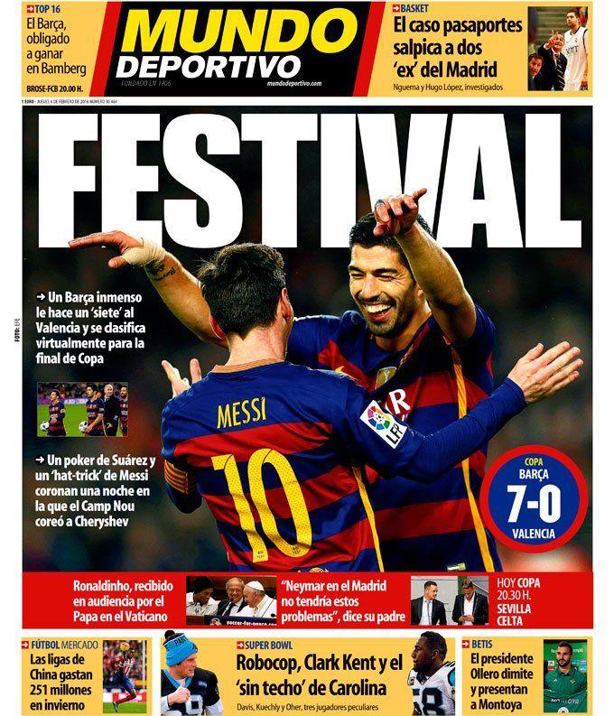 "Mundo Deportivo on Twitter: ""Festival     #portada #deportes      https://t.co/H6YjKvvO3o https://t.co/qAL4cYBaZM"""