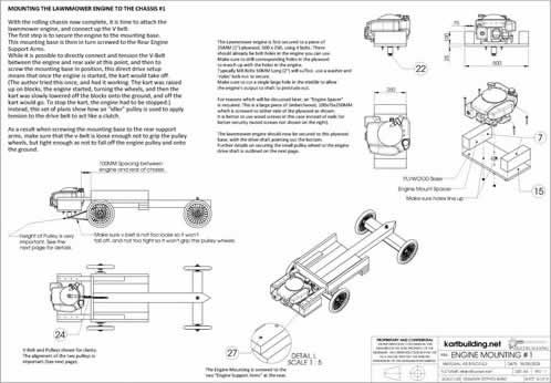 Mounting The Lawnmower Engine To The Chassis 1 Go Cart Pinterest