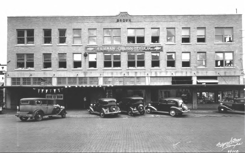 Ferman S First Chevrolet Dealership Tampa Chevrolet Was Assigned To Ferman In 1930 After Opening In A Temp Chevrolet Dealership History Lessons History Books