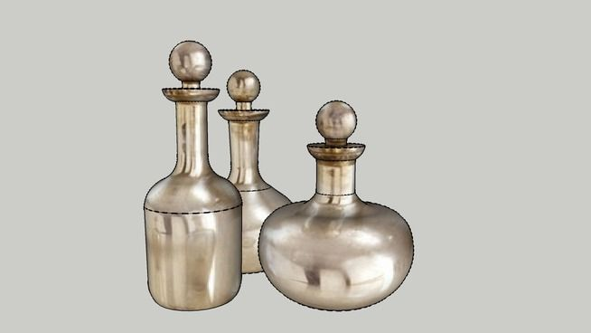 Large preview of 3D Model of Antique mirror carafe, decanter