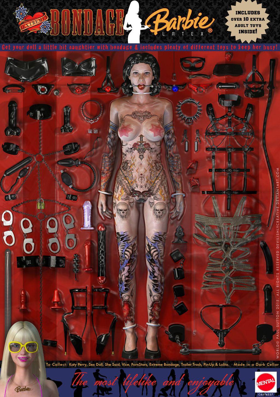 Barbie bondage plus size leather