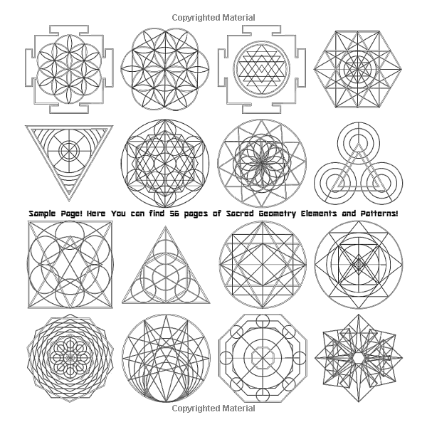Geometric Patterns Coloring Book Sacred Geometry Elements And Patterns Drawing Geometric Patterns Coloring Sacred Geometric Pattern Sacred Geometry Elements