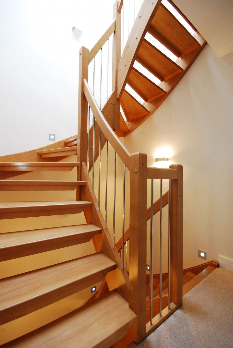 Painted Wood Stairs Wooden Handrail For Stairs For Classic Look Handrail Design Plans