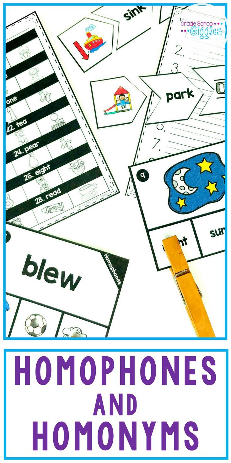Charmant Homophones And Homonyms Are Tricky For Lots Of Kids. Fun Practice  Activities Make Learning About These Multiple Meaning Words Easier.