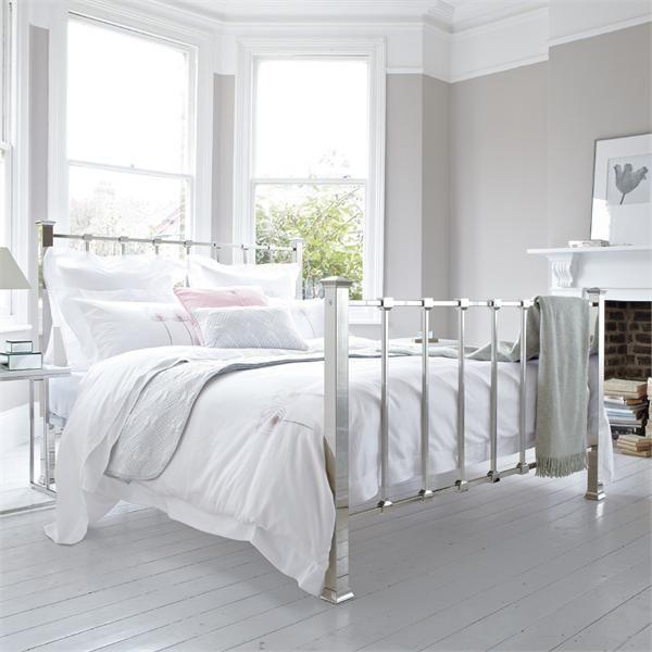 White Minimalist Metal Bed Frame Minimalist Bedroom Design