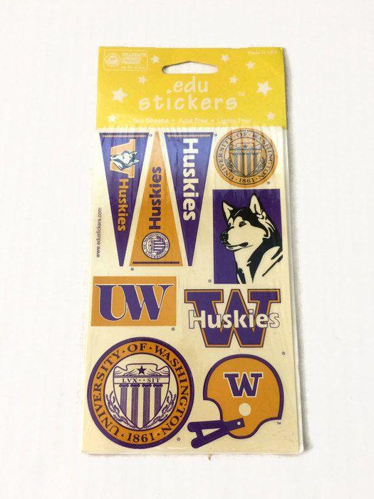 Vintage University Of Washington Uw Stickers By Thriftytheresa