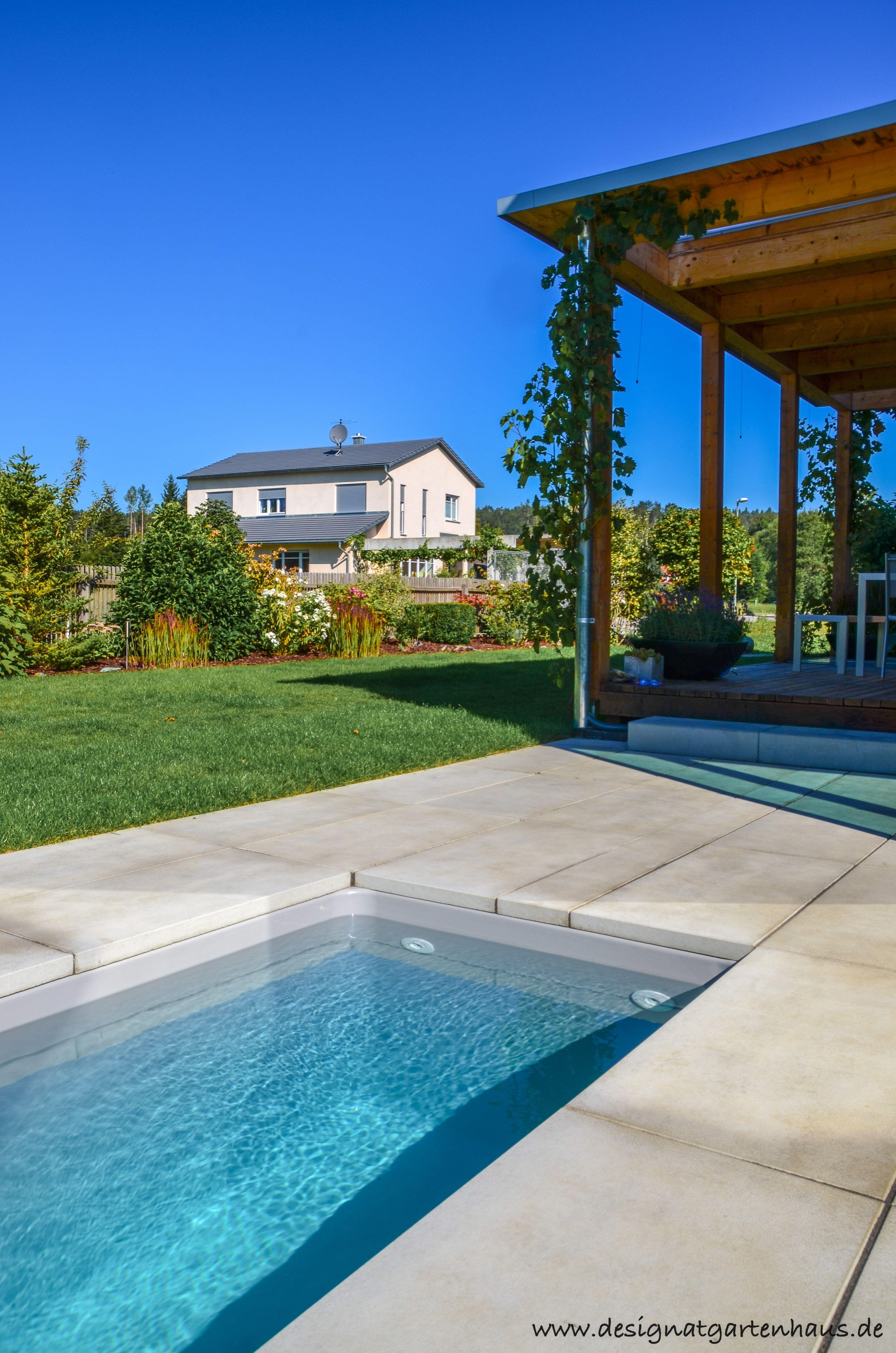 Minipool Wat Tauchbecken Fur Den Garten Mit Meersalzwasser By Design Garten L 300 Cm X B 150 Cm X T 125 Cm Led L Tauchbecken Design Gartenhaus Mini Pool