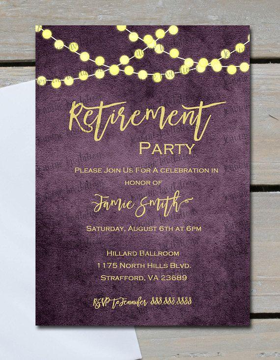 Invite Retirement Invitation Retirement Retirement party Retirement Invitation PLASTIC Retirement