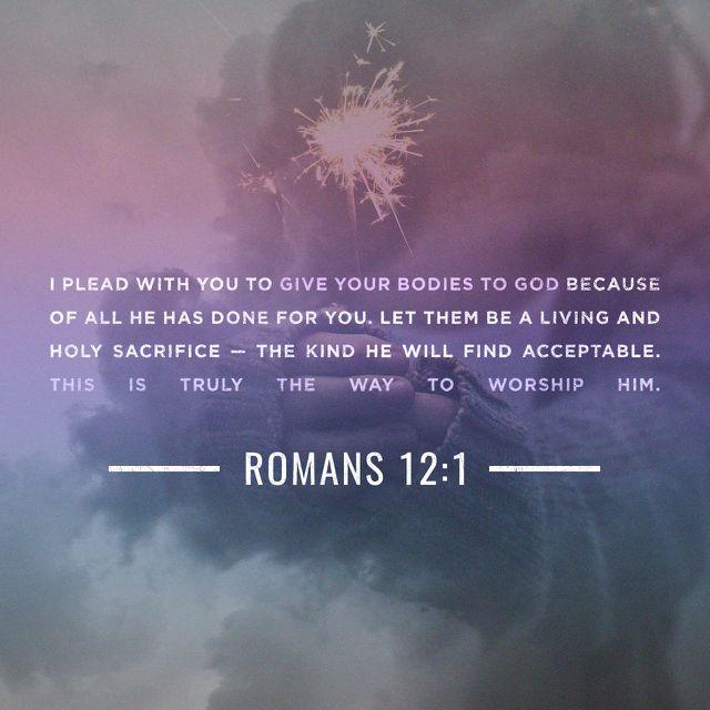 Present Yourself As A Living Sacrifice Rezos Bible Verses