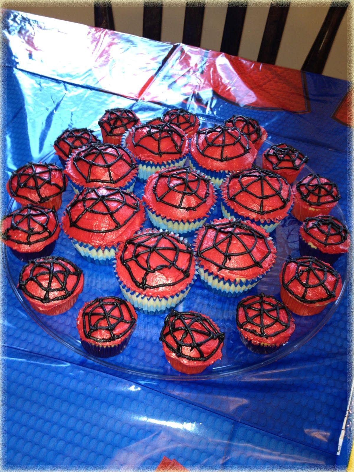 Cupcakes de Spider Man.