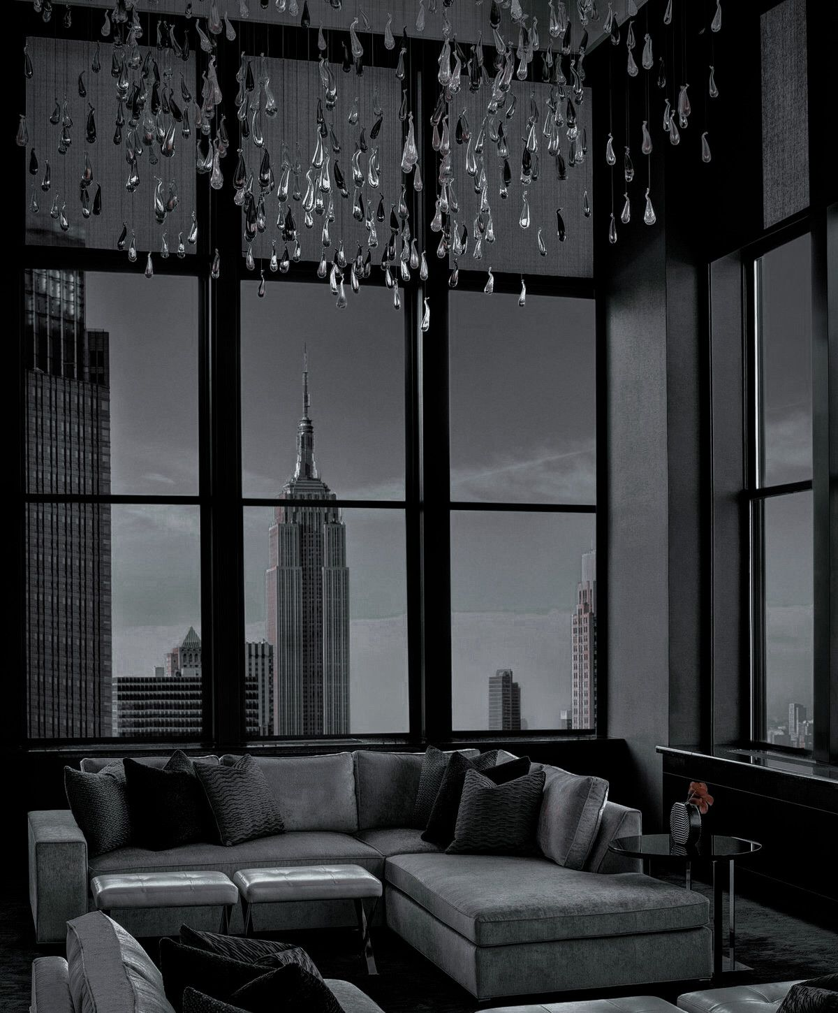 Pin By Ash On Dream House In 2021 Dream House Interior Interior Design Apartment Bedroom Luxury Homes Dream Houses Living room aesthetic dark