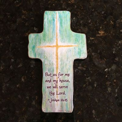 As For Me and My House Polished Cross – ChristianGiftsPlace.com Online Store
