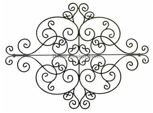 Outdoor Scroll Wall Art Captivating Amazon  Large Indoor Outdoor Scroll Wall Medallion Art Decor Review