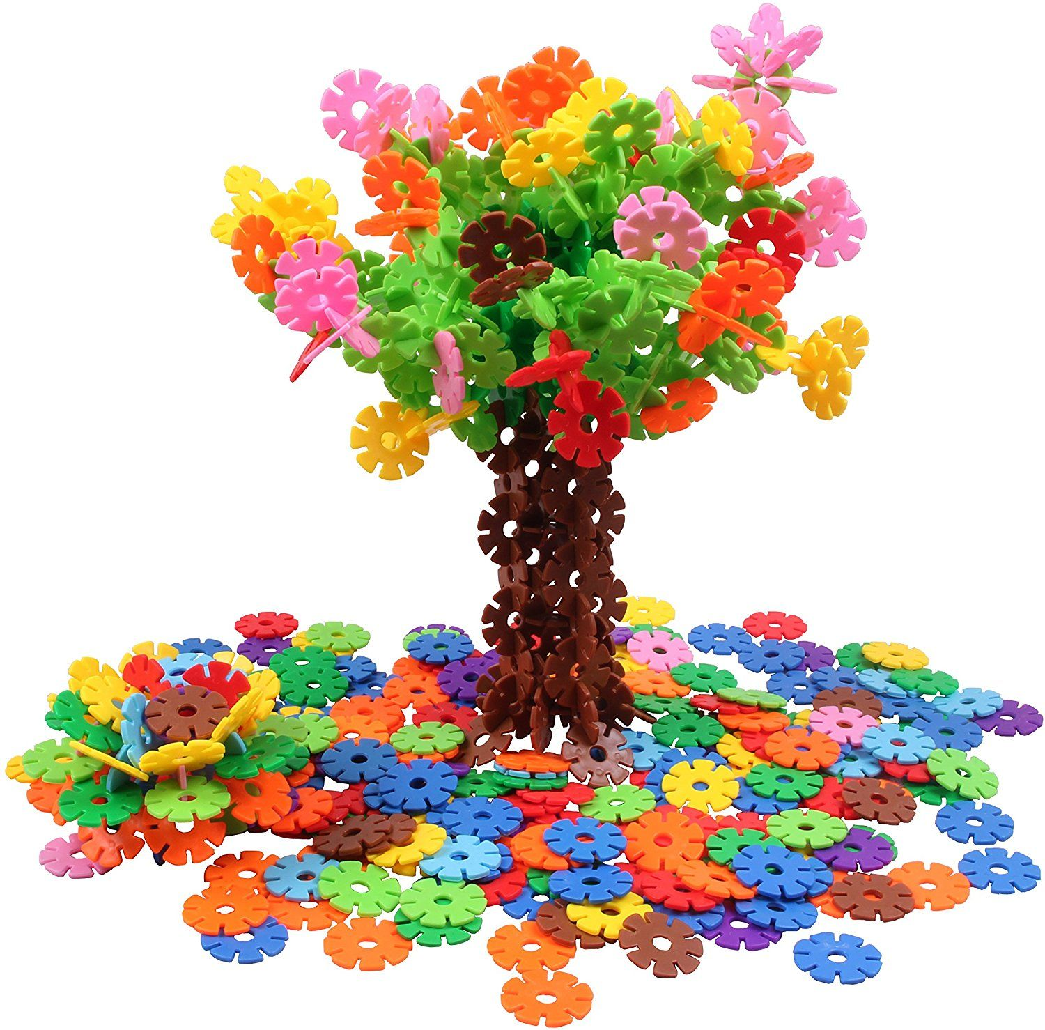 Amazon VIAHART Brain Flakes 500 Piece Interlocking Plastic