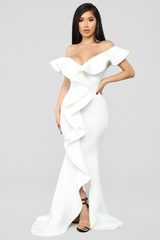 53936e579de0 Captivate The Night Ruffle Gown - Ivory in 2019 | Fashion nova ...