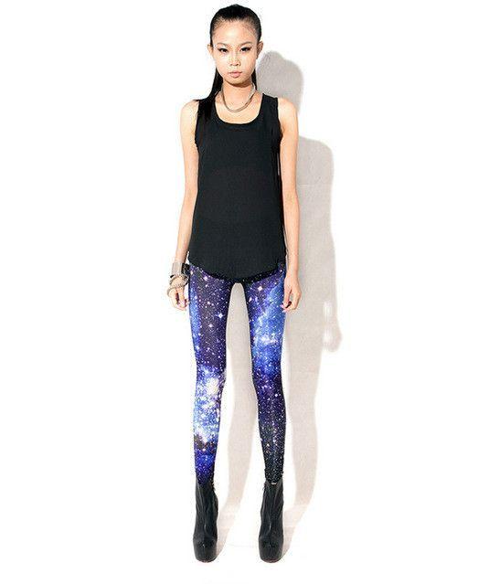 Women space printed leggings fashion galaxy leggings hot sale 2015 new arrival Novelty 3D tie dye fitness leggings free shipping