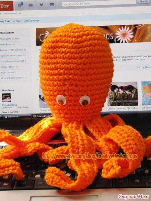 Олли осьминог (Игрушка, декор для детской)