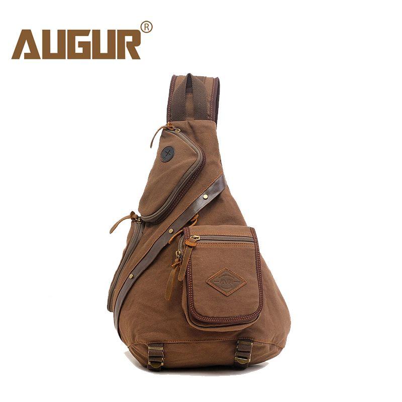 f81cc04118a AUGUR Man Shoulder Bag Men s Canvas Messenger Bags Chest Sling Bag Male  Casual Travel Military Larger