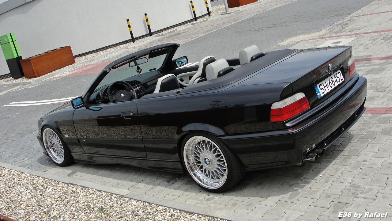 Black Bmw E36 Cabrio On Oem Bmw Styling 5 Bbs Rc Wheels 18
