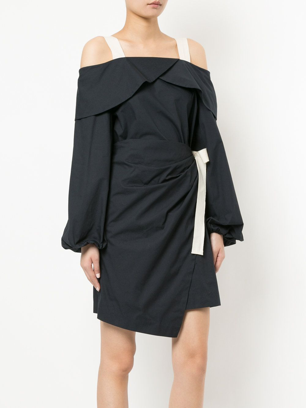 Goen.J off-the-shoulder wrap dress New Arrival Online GVCmAw