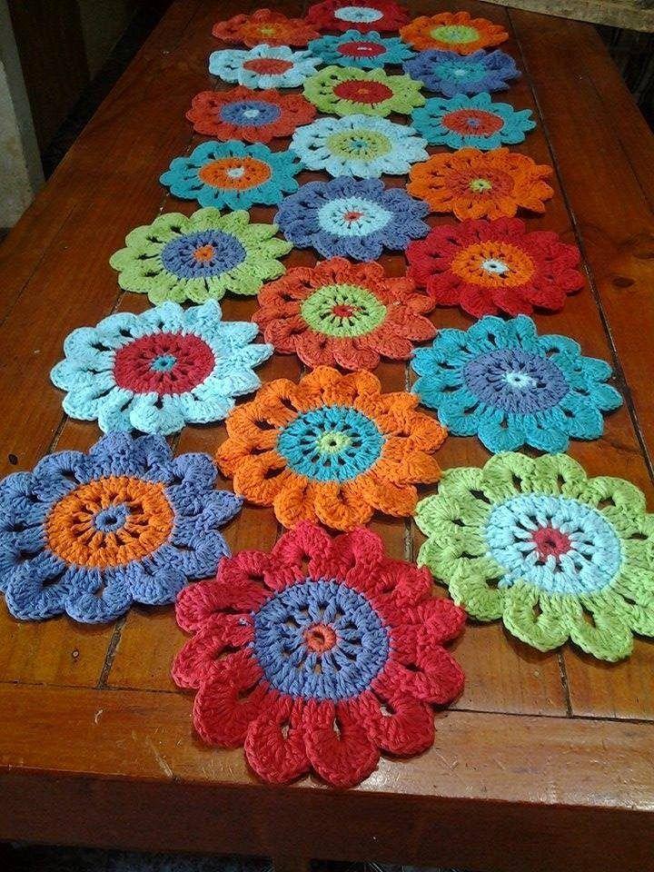 25 melhores ideias sobre caminos de mesa tejidos no - Camino de mesa elegante en crochet ...