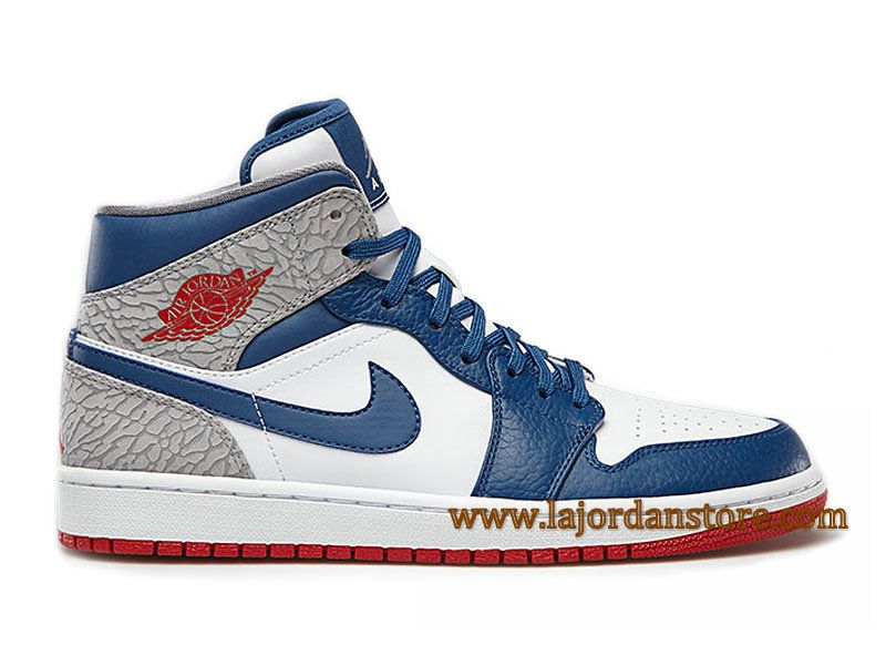 1c88f44a5cc Air Jordan 1 Retro High OG Chaussures Pour Homme Blanc Bleu Rouge  554724-107-