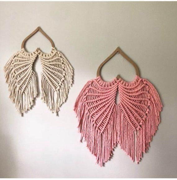 Ready to Ship // One Set of Eight Inch Baby Pink Angel Wings