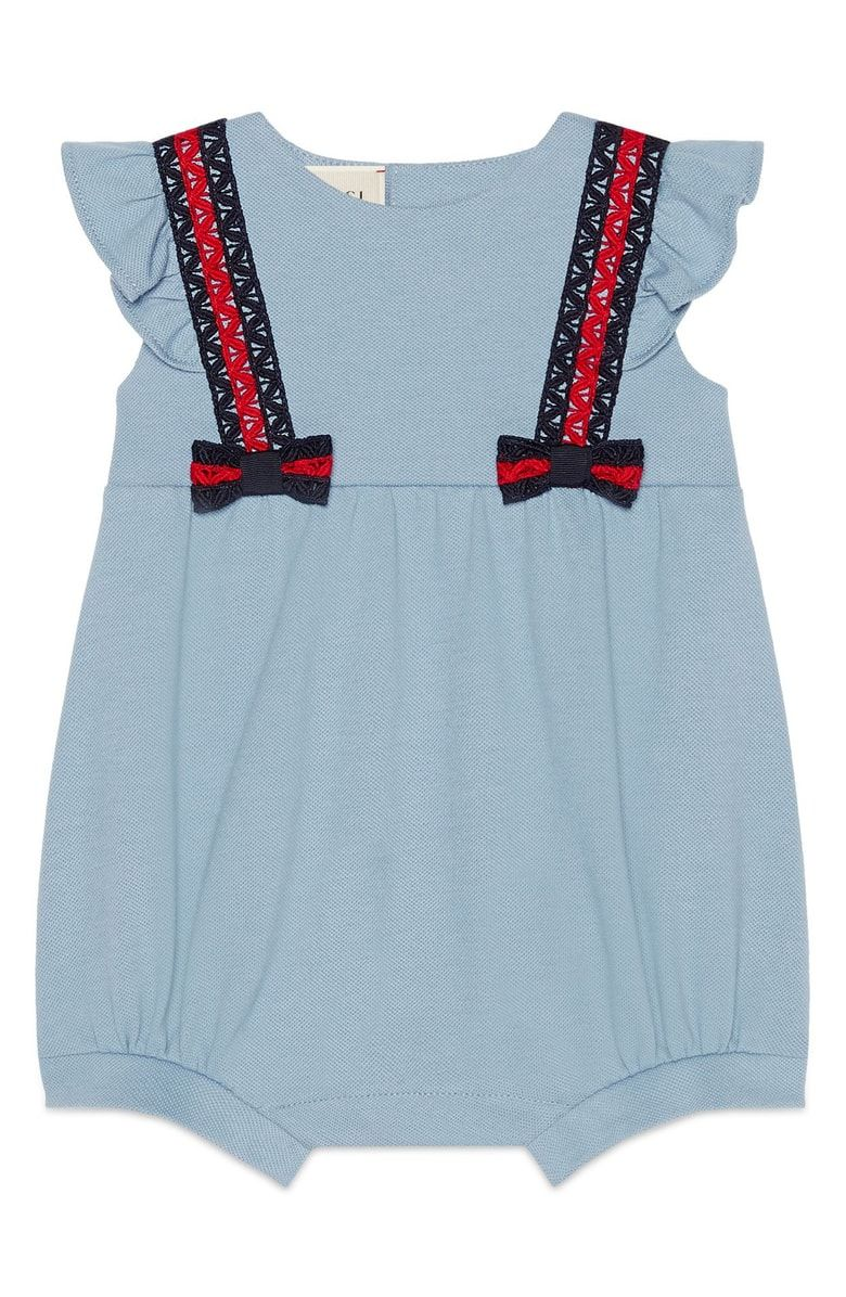 95ed59f9f9 Free shipping and returns on Gucci Short Bubble Romper (Baby Girls) at  Nordstrom.