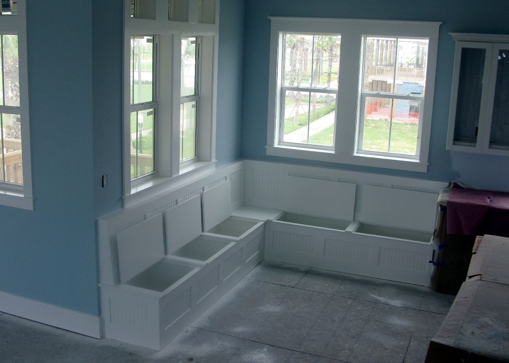 This Is Going To Be Built In My Dining Nook Imagine Padded Seat Cushions With Scatter Breakfast Nook With Storage Breakfast Nook Bench Kitchen Storage Bench