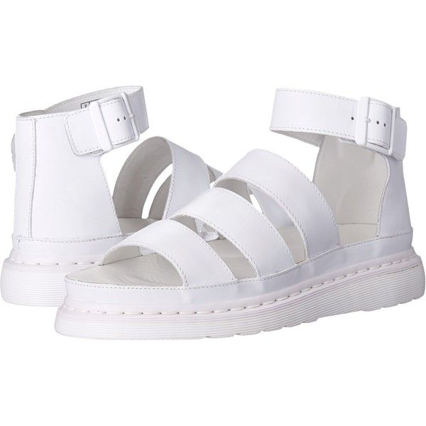 strap sandals, White leather shoes