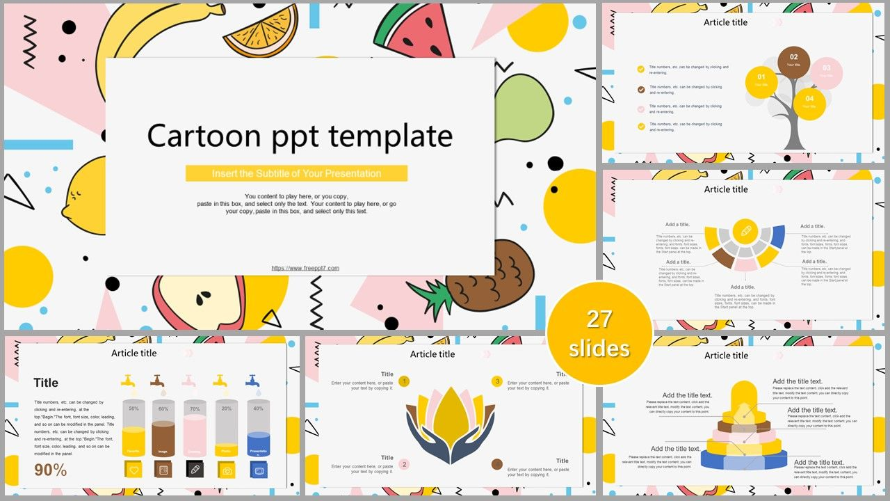 Cartoon Fruit PowerPoint Templates_Best PowerPoint