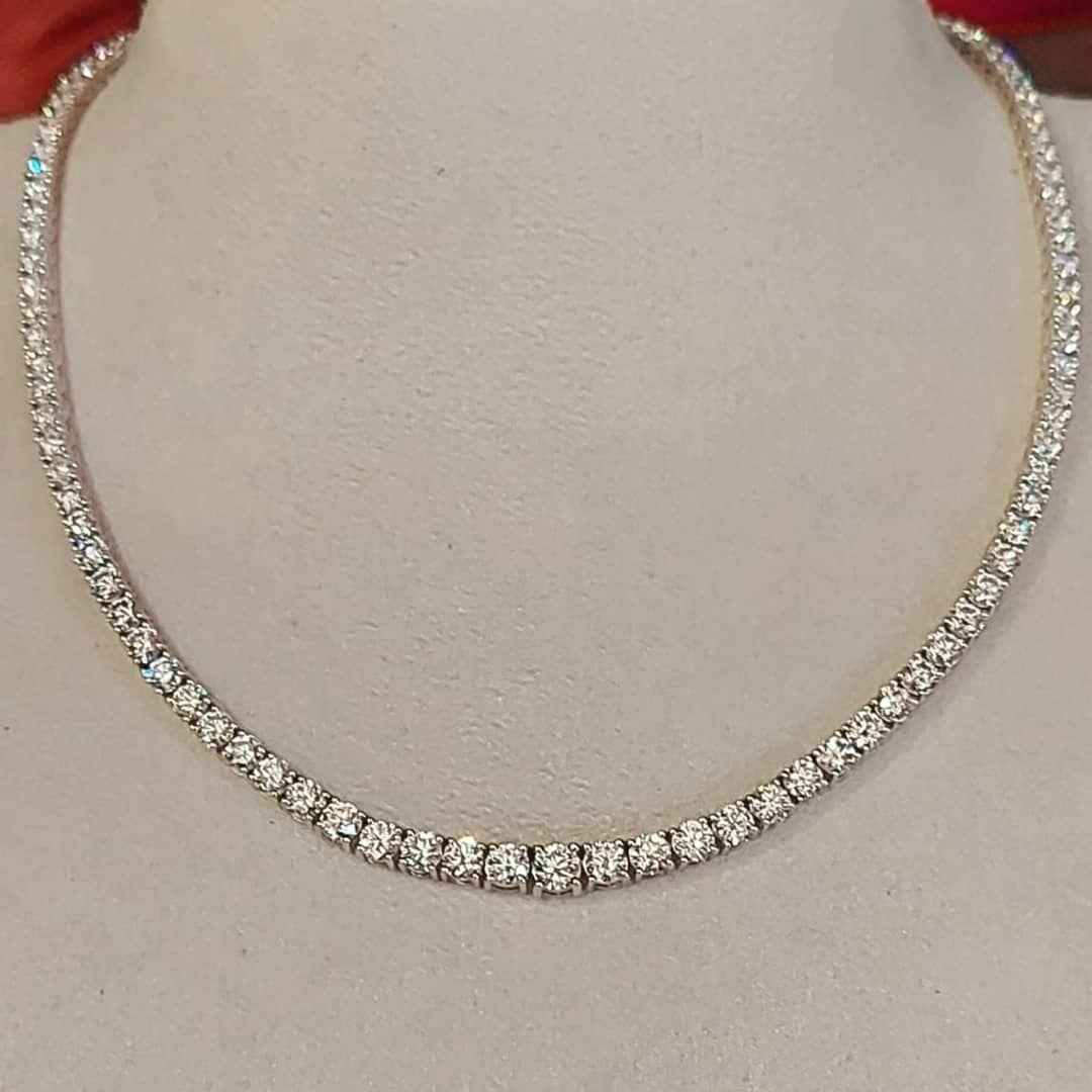 عقد ألماس بلجيكي مع شهادةhrdantwerp Belgian Diamond Necklace With Certificate Hrdantwerp Diamonds Jewelry Necklace Gold Necklace Necklace Diamond Necklace