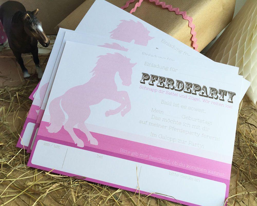 kindergeburtstag pferde - bastelset (pdf
