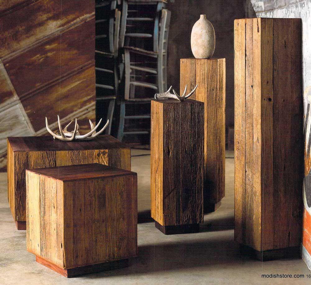 Roost Reclaimed Wood Tables U0026 Pedestals U2013 Modish Store