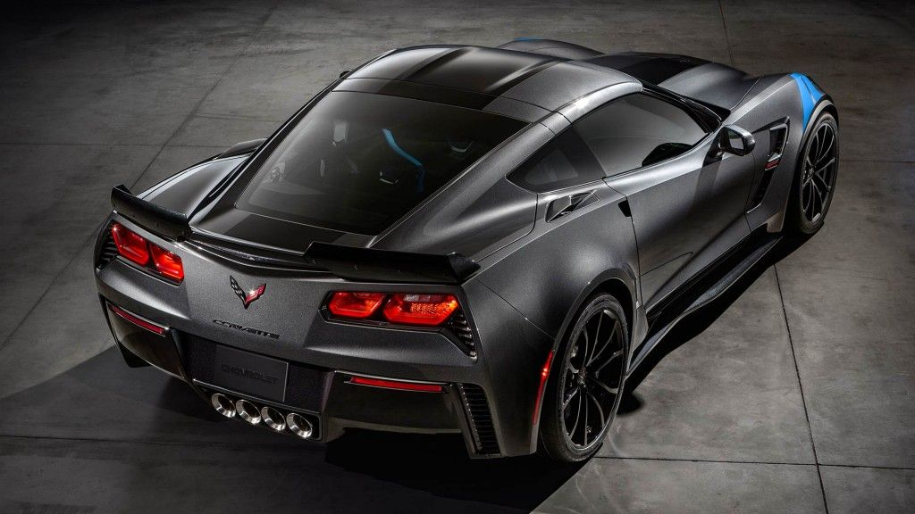 Side Rear View Of The 2017 Chevrolet Corvette Grand Sport Sports Car Corvette Grand Sport Chevrolet Corvette Stingray Chevrolet Corvette