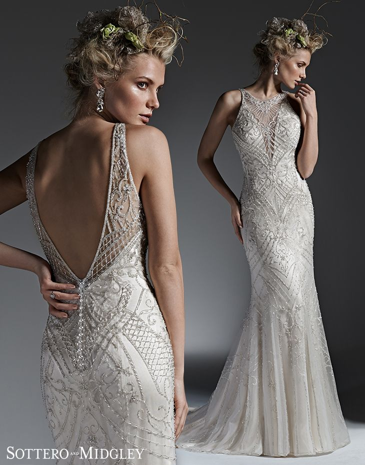 Opulent Sheath Wedding Dress Sottero And Midgley Platinum