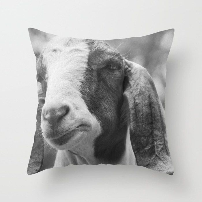 Buy Goat Photography | Farm Animals | Nature Throw Pillow by wildhood. Worldwide...