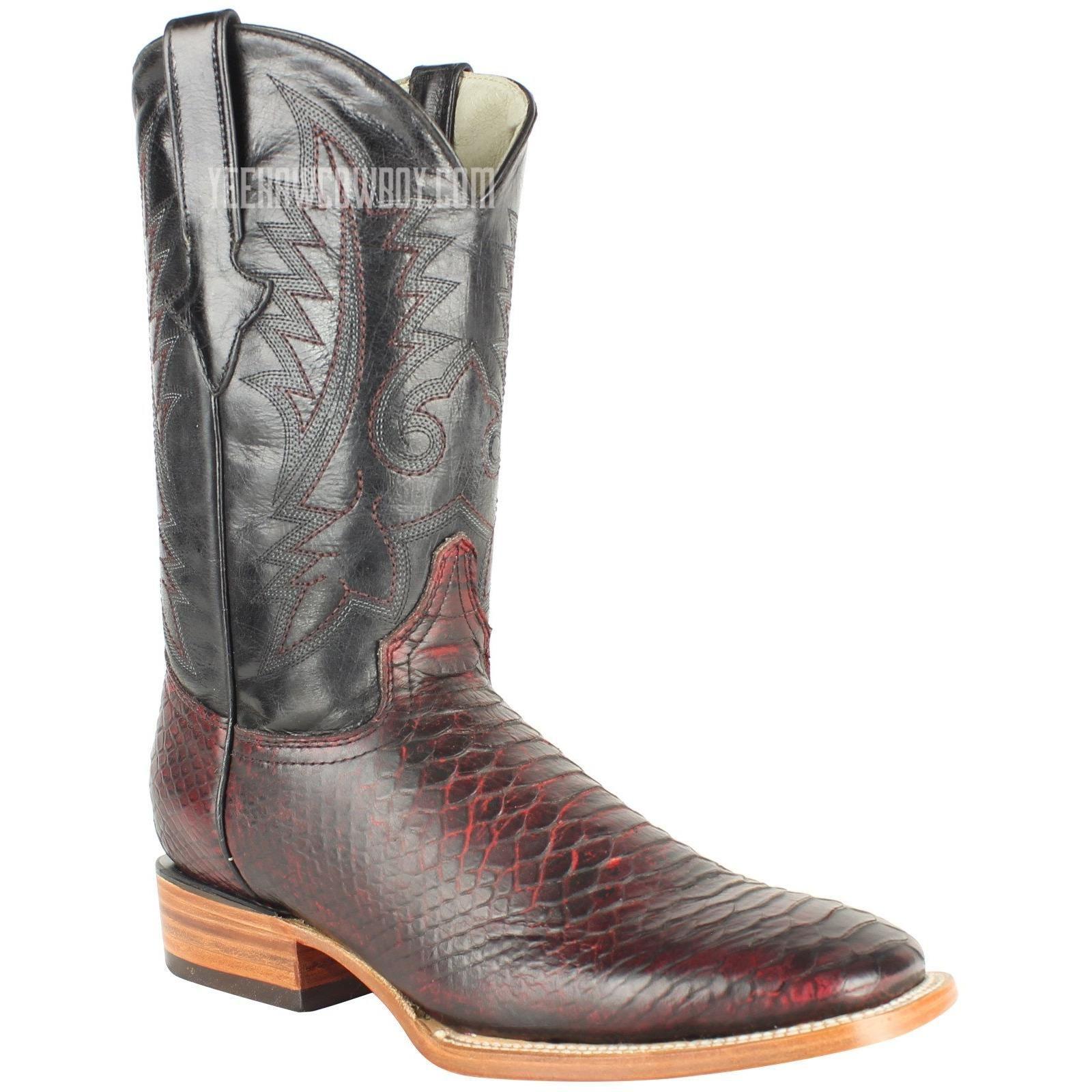 e8b163d0522 Men's Quincy Python Print Boots Square Toe Handcrafted   Cowboy ...