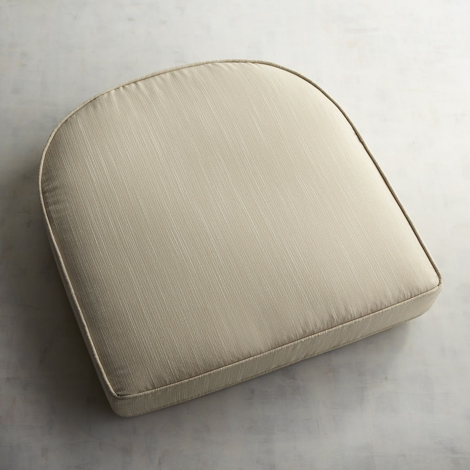 Large Contour Chair Cushion In Draper Bisque Natural
