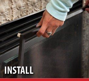 Our Fireplace Safety Screens Are Custom Made To The Size Of Your Gas