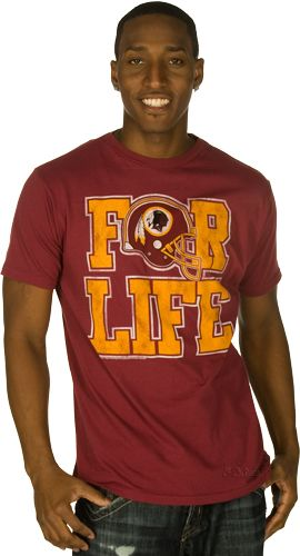 premium selection a43c6 62b8a For Life Washington Redskins T-Shirt by Junk Food | Gift ...