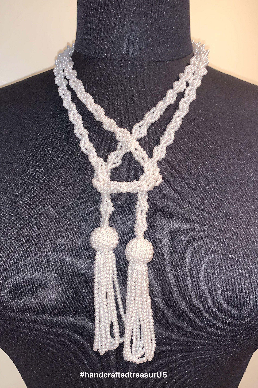 Art Deco Flapper Lariat Necklace