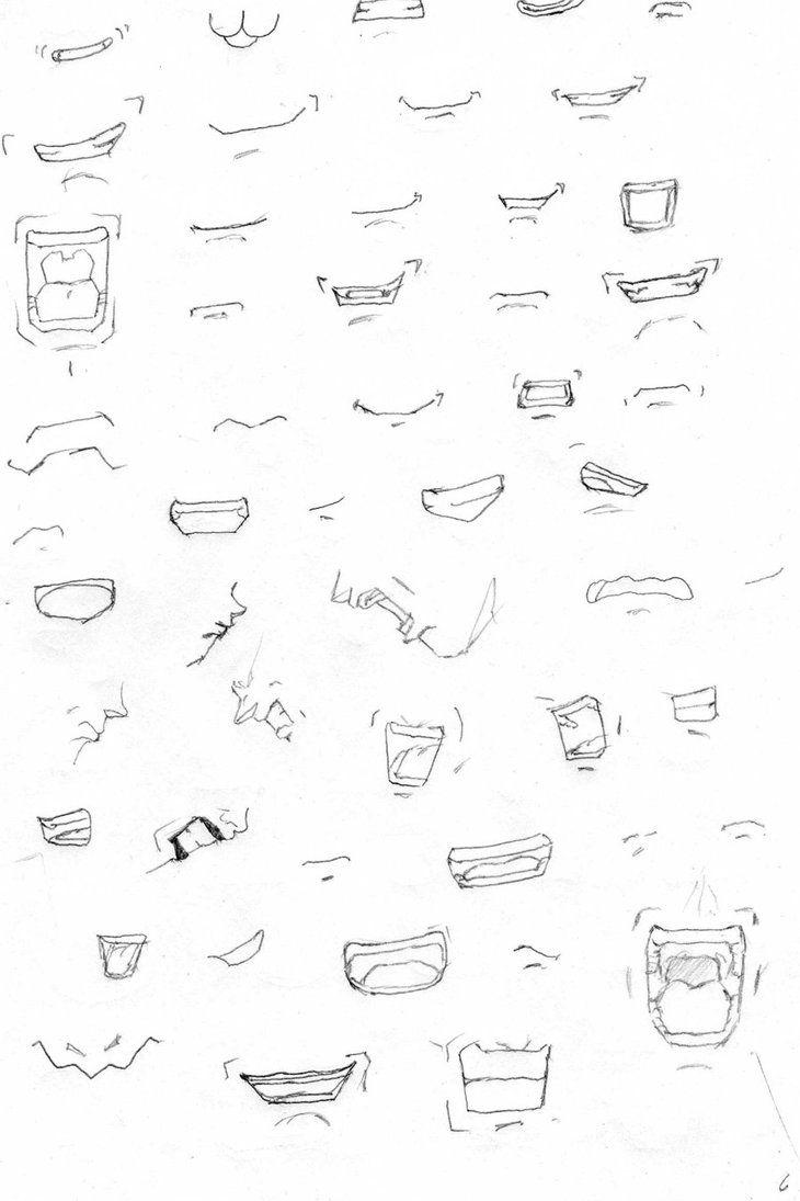 Dragon Ball mouth tutorial. #SonGokuKakarot   Drawing   Pinterest ...