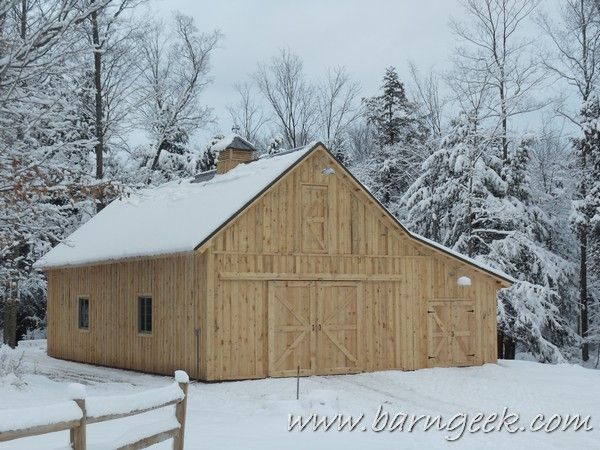 22x50 gable barn plans with shed roof lean to farm life for Shed roof pole barn plans