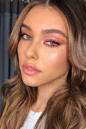 45 Top Rose Gold Makeup Ideen, um wie eine Göttin auszusehen #prettymakeup Glitter Pink …