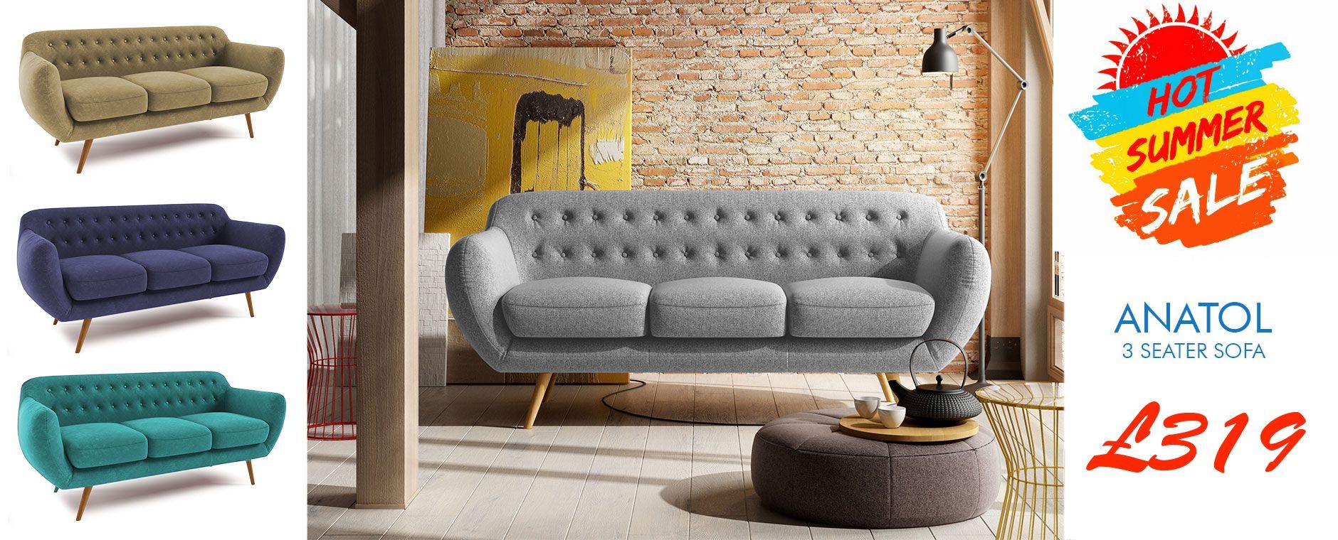 Geräumig Retrosofa Ideen Von Rea 2 Seater Retro Sofa